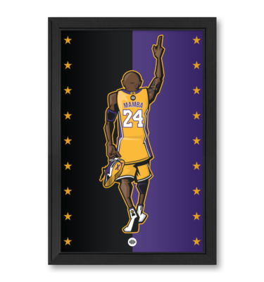 Kobe Bryant Los Angeles Lakers LA Black Mamba 11x17