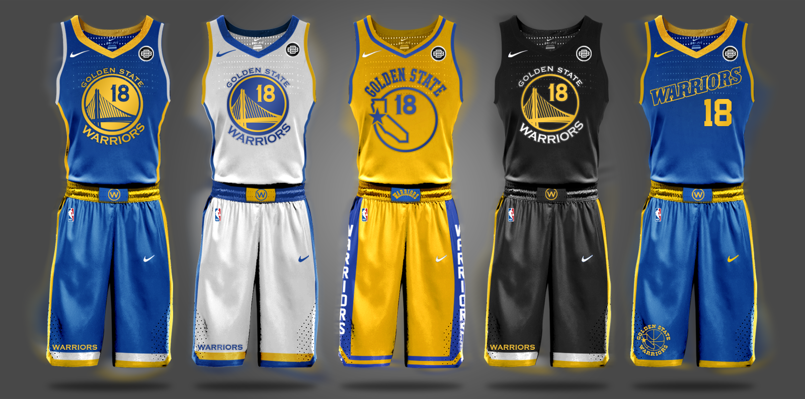 aa9b71bf77b 2017-2018 Nike Warriors Jersey Concept   warriors