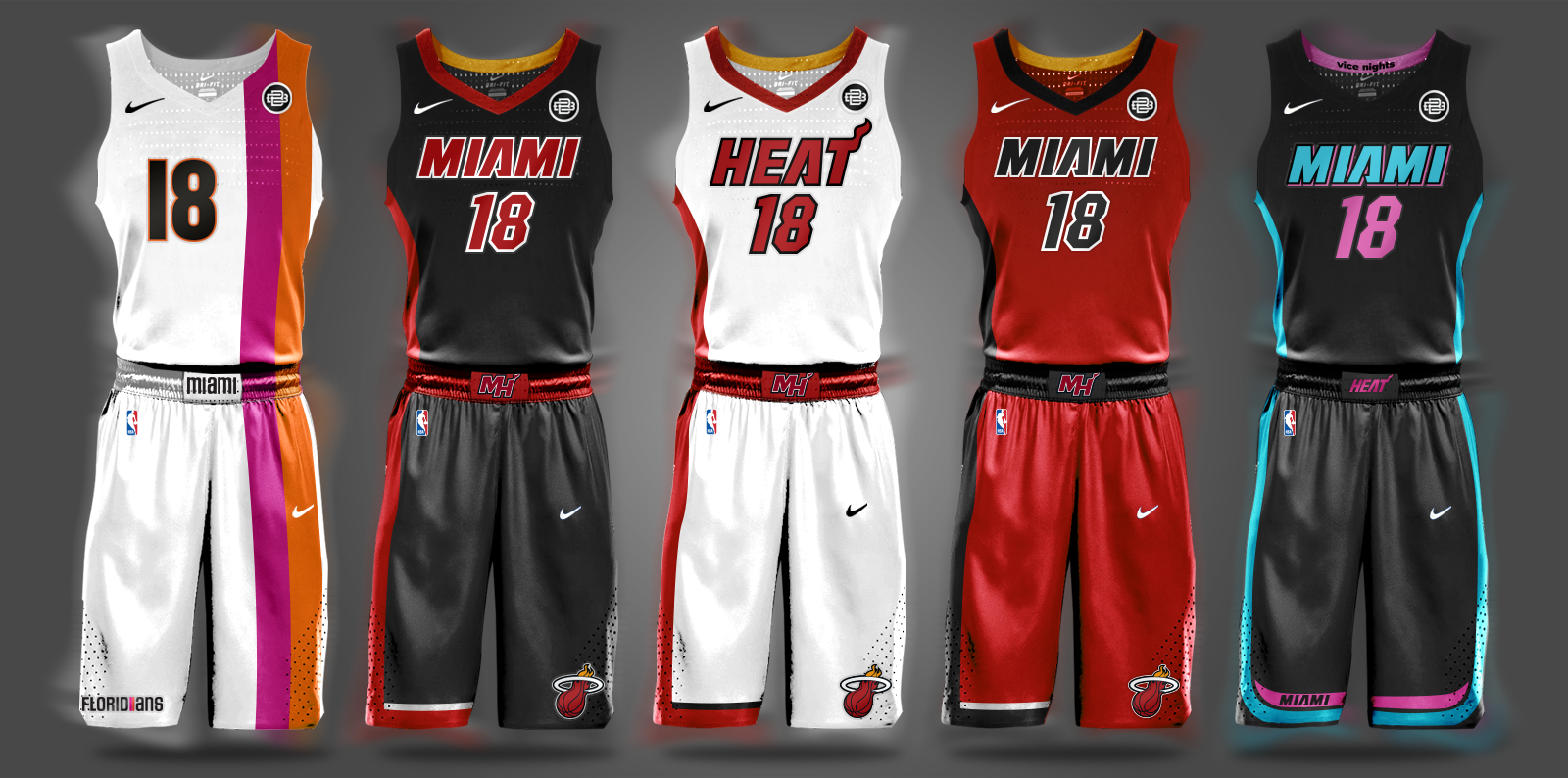 1336f3963f2e Miami Heat NBA Nike Free Agency Summer League Miami Floridians Florida Vice  City Vice Nights Miami