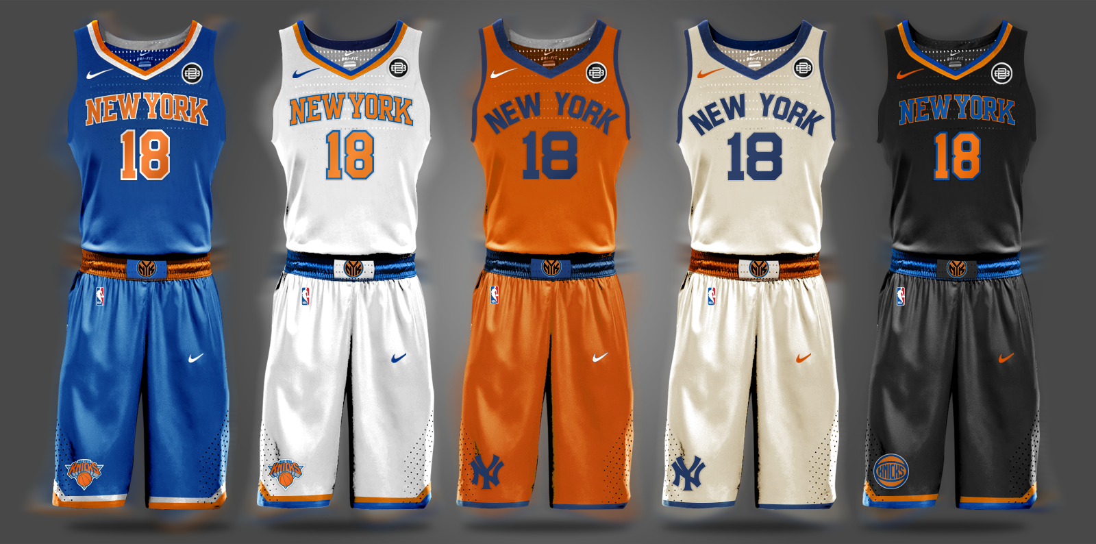bad678705cac New York Knicks Carmelo Anthony Kristaps Porzingis Phil Jackson NBA Draft  Nike Throwback Uniforms Tim Hardaway