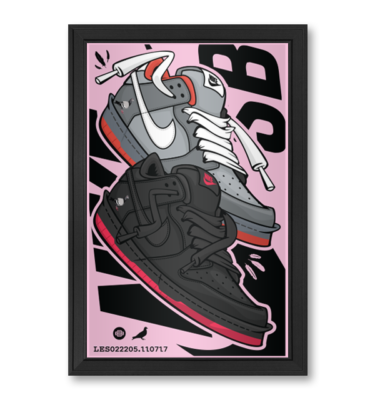 Nike Staple Dunk Nike SB OG Staple Pigeon NYC Sneaker Art Nice Kicks